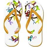 CafePress - Ribbon Tree - Flip Flops, Funny Thong Sandals, Beach Sandals