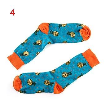 YZWZ Calcetines Unisex Happy Socks Art Pattern Calcetines Fruta Piña Moda Mujer calcetín para Primavera Invierno (5 Pares): Amazon.es: Deportes y aire libre