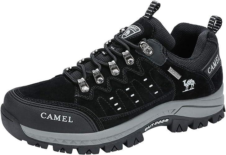 CAMEL CROWN Wanderschuhe Herren Damen, Low Top Trekkingschuhe Anti Rutsch Walkingschuhe Sneaker für Outdoor Klettern Angeln Tagestouren