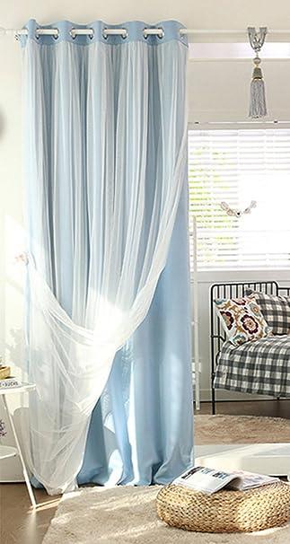 Nibesser Prinzessin Vorhänge 2 Schichten Blickdicht Gardinen  Verdunklungsvorhang Mit Ösen Für Schlafzimmer Kinderzimmer 1 Stück (