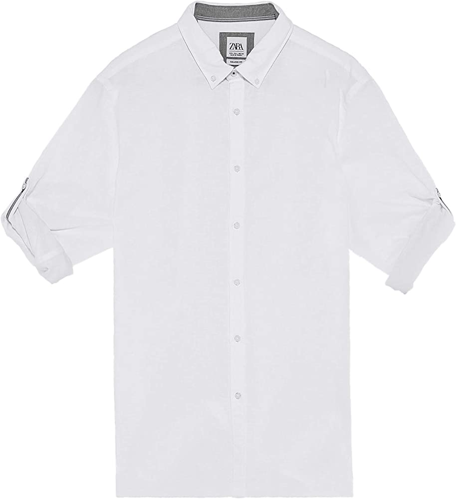 Zara Men 7545/402/250 - Camisa con Patas Blanco XL: Amazon.es: Ropa y accesorios