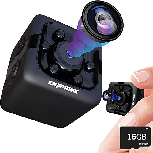 Spy Hidden Camera Nanny Cam – with 16 GB SD Card Mini Wireless Cop Cam Action Cameras for Indoor or Outdoor, Home Office or Car Video Recorder HD Recording and Night