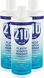 Sumner Laboratories 23305-3PK 210 Plus Plastic Scratch Remover Cleaner and Polish, 3 Pack