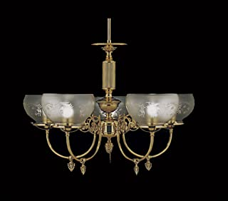 product image for Framburg 7525 PB 5-Light Chancery Dining Chandelier, Polished Brass