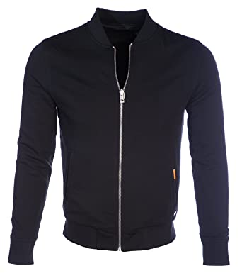 Hugo Boss Jacket - Mens Ztraight Reversible Bomber Jacket in Black