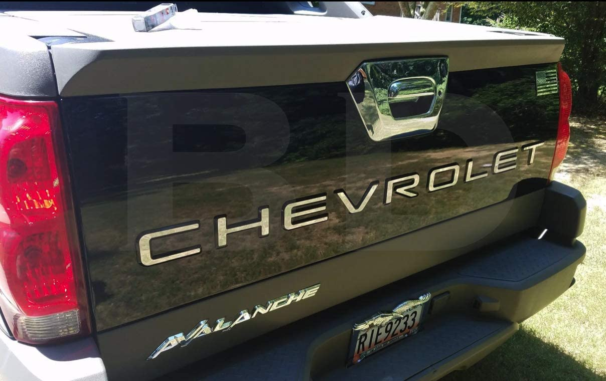 BDTrims Tailgate Raised Letters Compatible with Avalanche Models Black