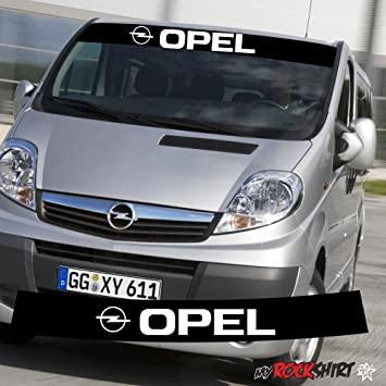 Sticker,auch Hochleistungsfolie myrockshirt Opel Vivaro Aufkleber Rennstreifen 130cm+Logo Aufkleber,Decal Sonnenblende,Keil,Tunin