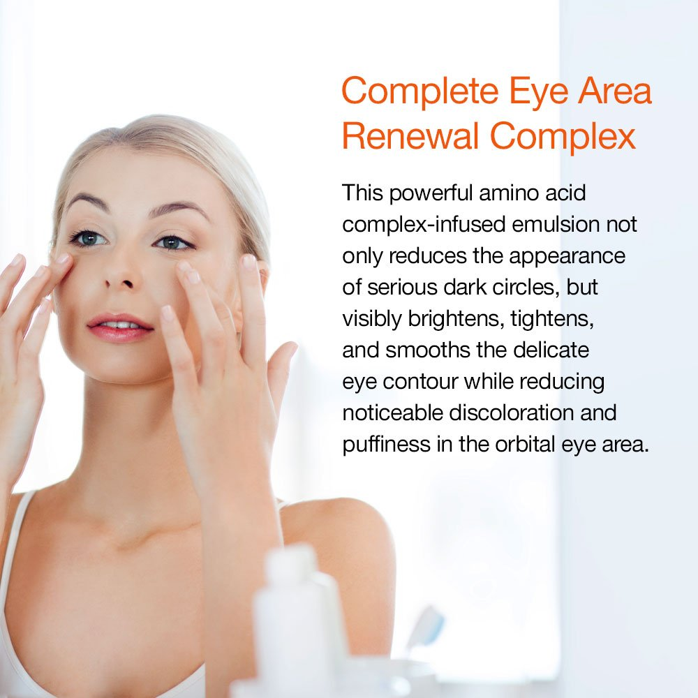 Complete Eye Area Renewal Complex - Designed to Visibly Brighten, Tighten and Smooth Eye Contour, and Noticeably Reduce Discoloration and Puffiness, (0.5 oz) by Serovital (Image #2)