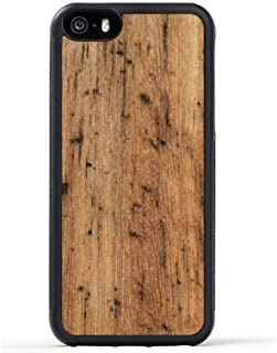 product image for iPhone 5 / 5s / SE Wood Traveler Case by Carved - Unique Real Wooden Phone Cover - Rubber Bumper - Eucalyptus