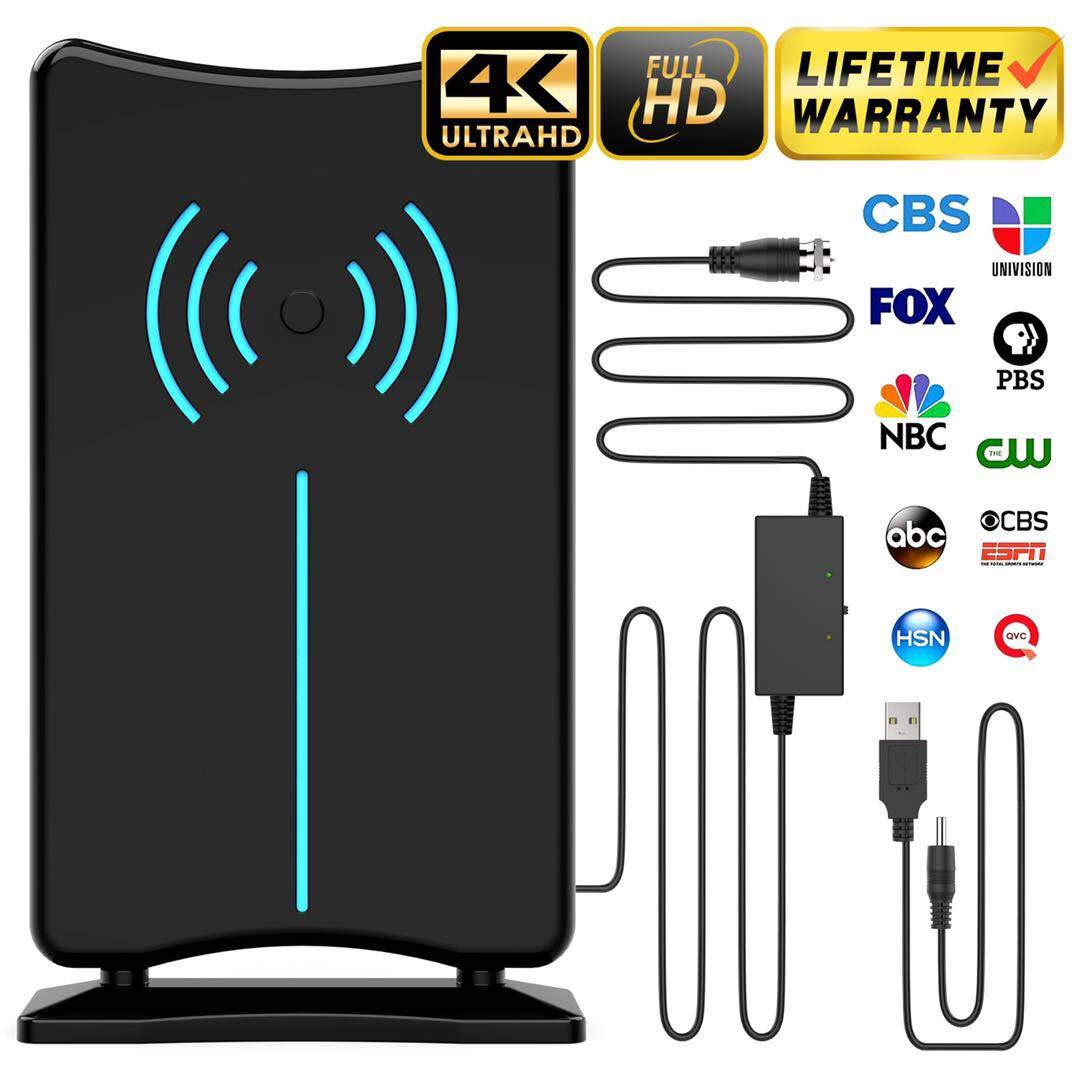 Updated 2019 Version Professional 75-150 Miles TV Antenna, Indoor TV Digital HD Antenna 4K HD Freeview Life Local Channels All Type Television by BuKee