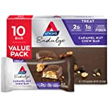 Atkins Endulge Treat, Caramel Nut Chew Bar, Keto Friendly, 10 Count (Value Pack)