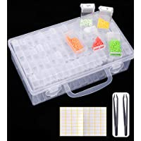 SanerDirect 84 Grids Diamond Painting Storage Container, Beads Organizer Storage Container Case (Storage Box with Tools…