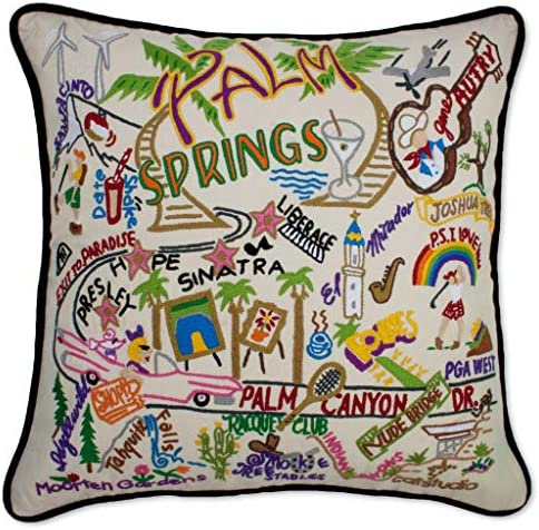 Catstudio Palm Springs Embroidered Decorative Throw Pillow