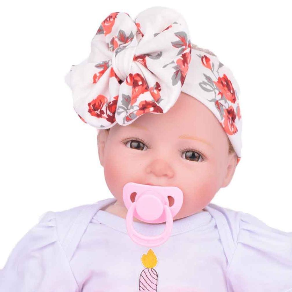 Tenworld Babys Hairband Turban Bowknot Headwrap Headband Newborn Photography Props Tenworld-hairband