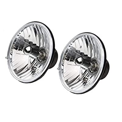 RAMPAGE PRODUCTS 5089925 Universal Clear Halogen Headlight Conversion Kit with Round H4 55/60W Bulbs: Automotive