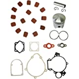 NAVARME The Piston Set & Cluth Pads& Gasket Set For 66cc 80cc Motorized Bike