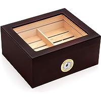 Kendal 25-50 Cigar Desktop Humidor Mahogany Finish