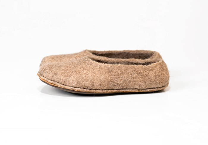 48eb4f8a74d Beige woolen slippers handmade from natural felted wool, Women's ...