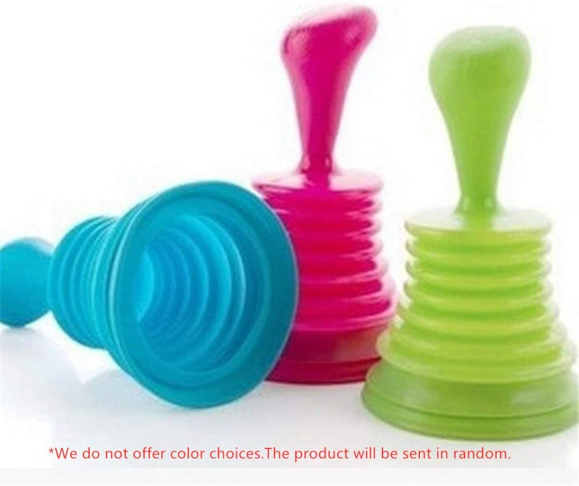Logicstring Portable Size Handheld Household Powerful Sink Drain Pipe Pipeline Dredge Suction Cup Toilet Plungers