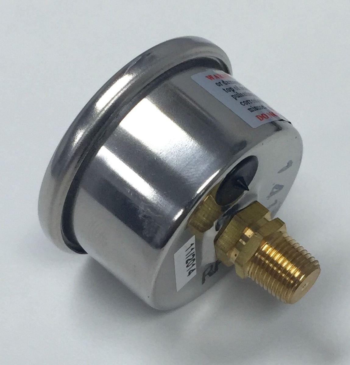 Pirate Mfg Aluminum Holley 4150 Double Pumper Fuel Line Log Clear Anodized /& White Oil Gauge