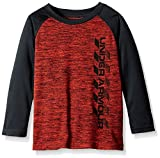 Under Armour Toddler Boys' Long Sleeve Tee Shirt, Red/Navy, 3T