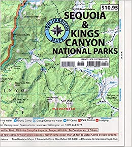 Sequoia Kings Canyon National parks recreation map Tom Harrison
