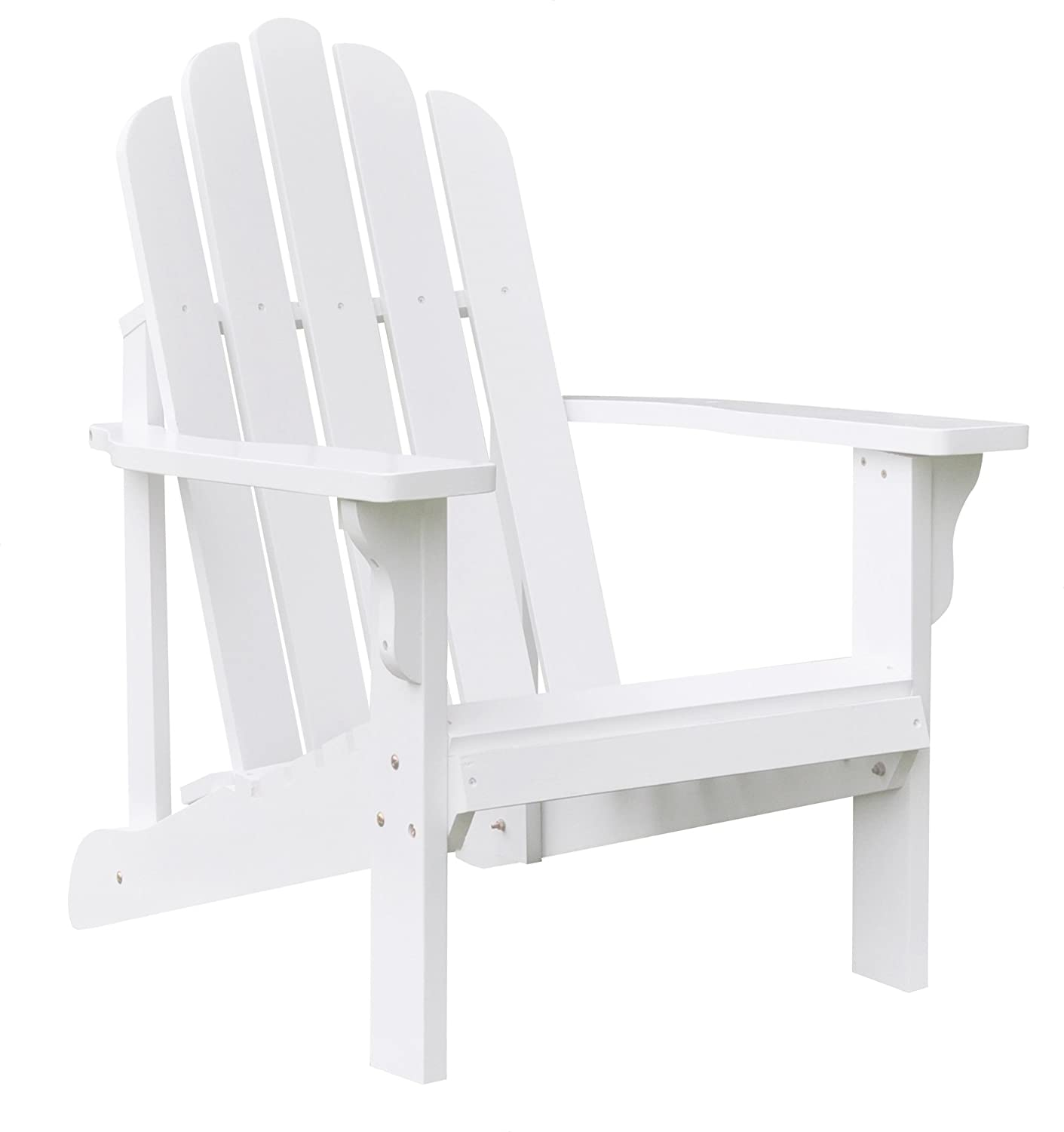 Amazon Shine pany Marina Adirondack Chair White Patio