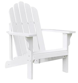 Charming Shine Company Marina Adirondack Chair, White