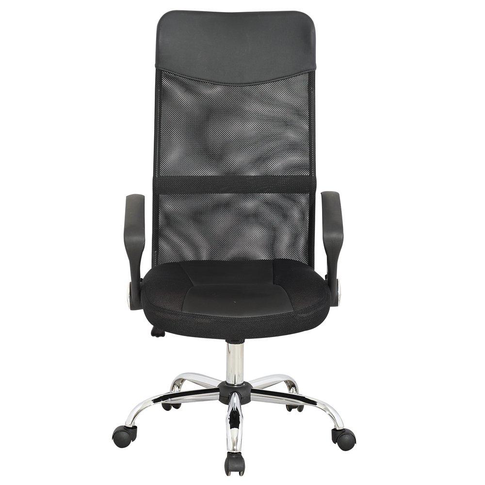 Miadomodo - Silla de oficina de altura ajustable - color negro