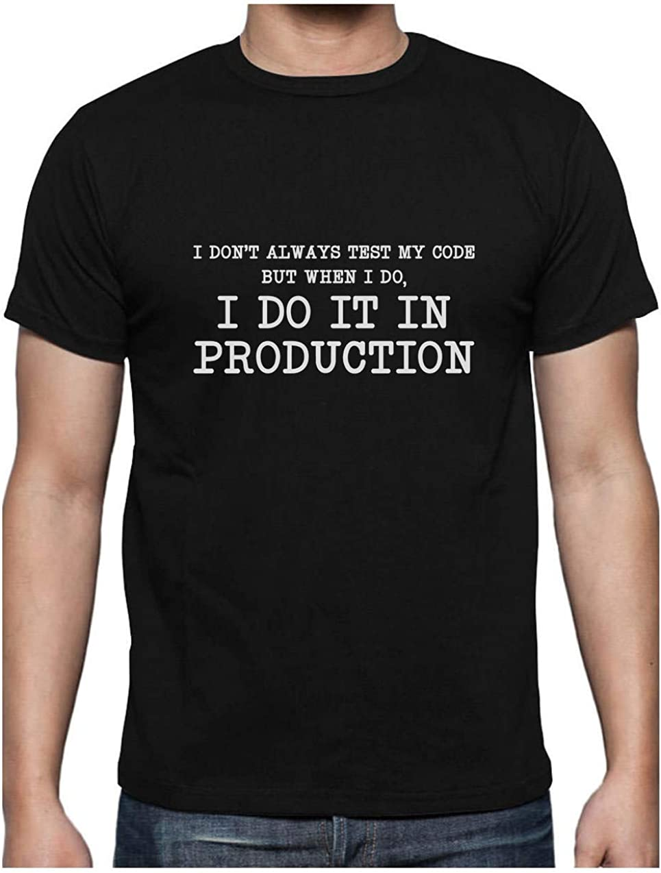 Green Turtle T-Shirts Camiseta para Hombre- Regalos para Ingenieros - I Don't Always Test My Code -