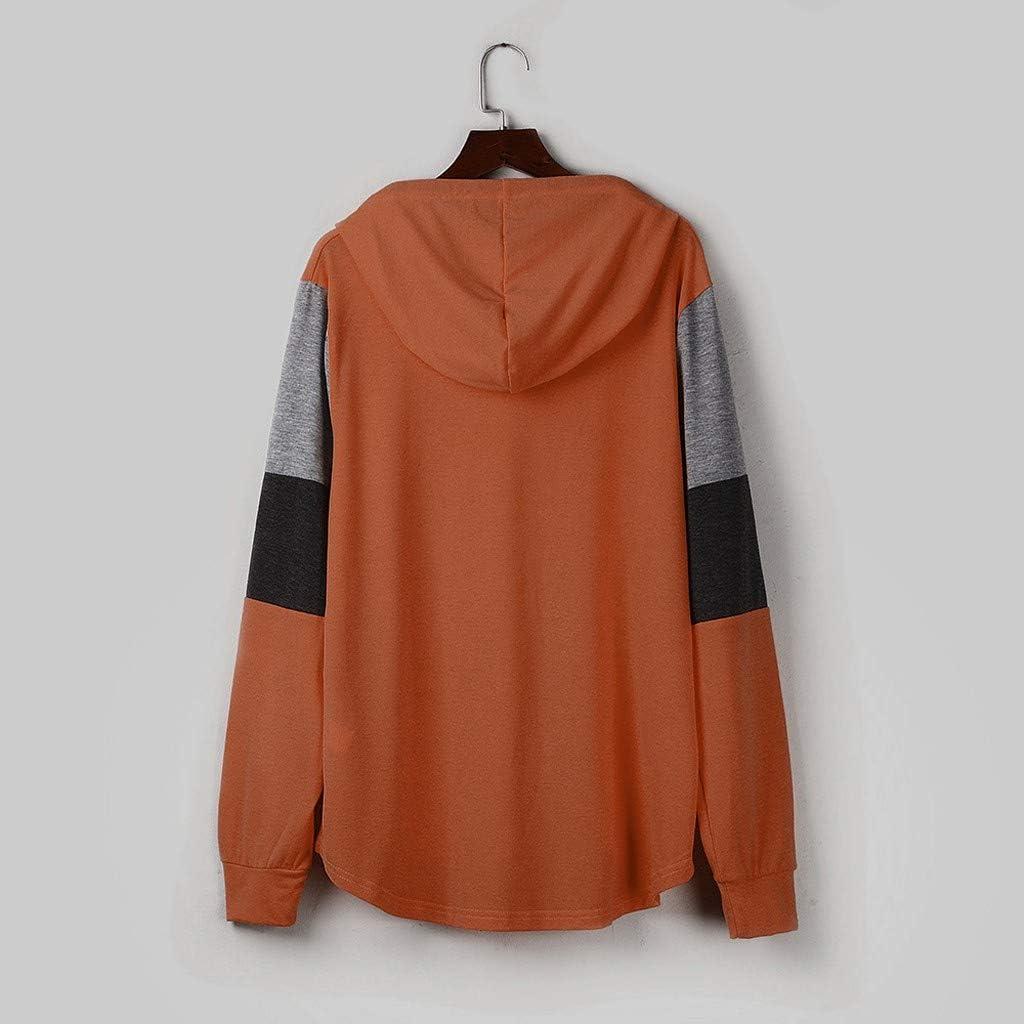 Toraway Womens Casual Sweatshirts Long Sleeve Plaid Pocket Color Block Hoodies Pullover Women Hoodie Pullover