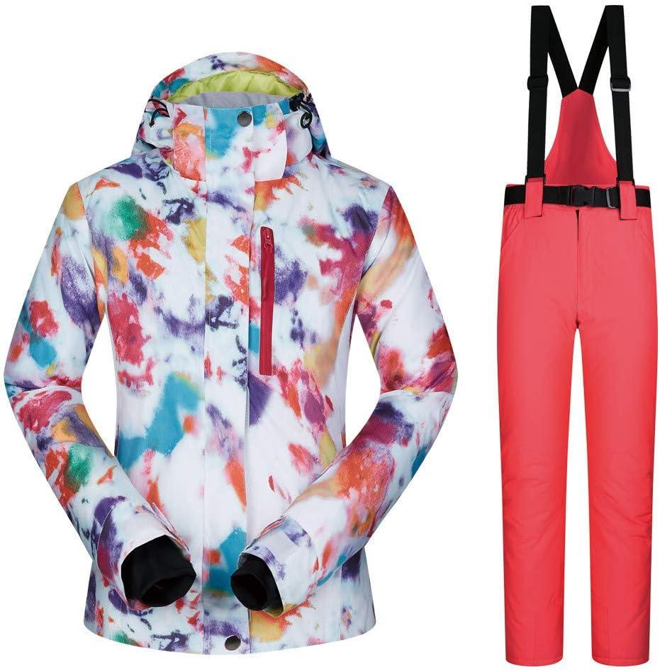 レディース防水ジャケット アウトドアスポーツスキースーツ女性のスーツスノースーツ暖かい通気性の着用女性のスキースーツジャケット スキー冬用ジャケット (色 : C9, サイズ : S) C9 Small