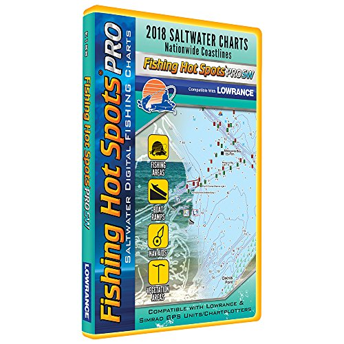 Fishing Hot Spots PRO SW - 2018 Digital Map & Fishing Chip f/Lowrance & Simrad Units - Salt ()