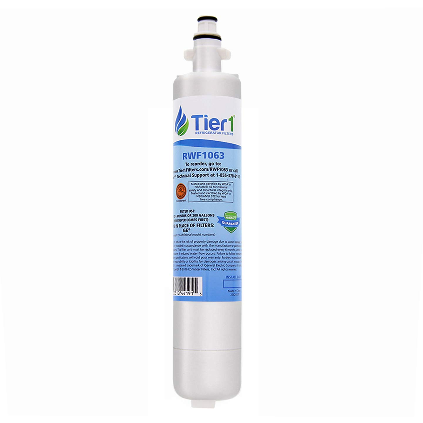 Tier1 Replacement for GE RPWF Refrigerator Water Filter (NOT for RPWFE)