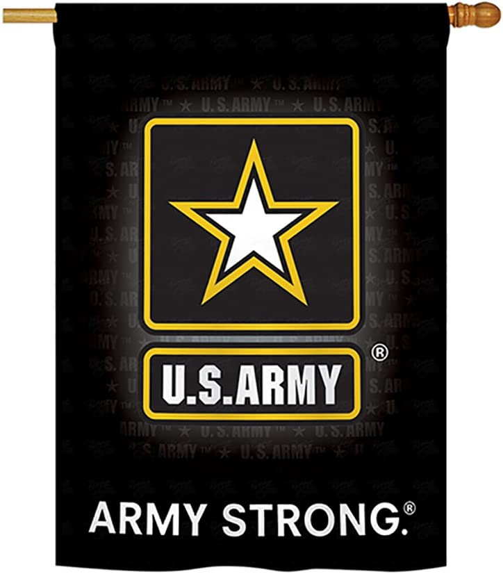 "Breeze Decor U.S. Army House Flag Armed Forces Rangers United State American Military Veteran Retire Official Decoration Banner Small Garden Yard Gift Double-Sided, 28""x 40"", Imported 28 X 40"