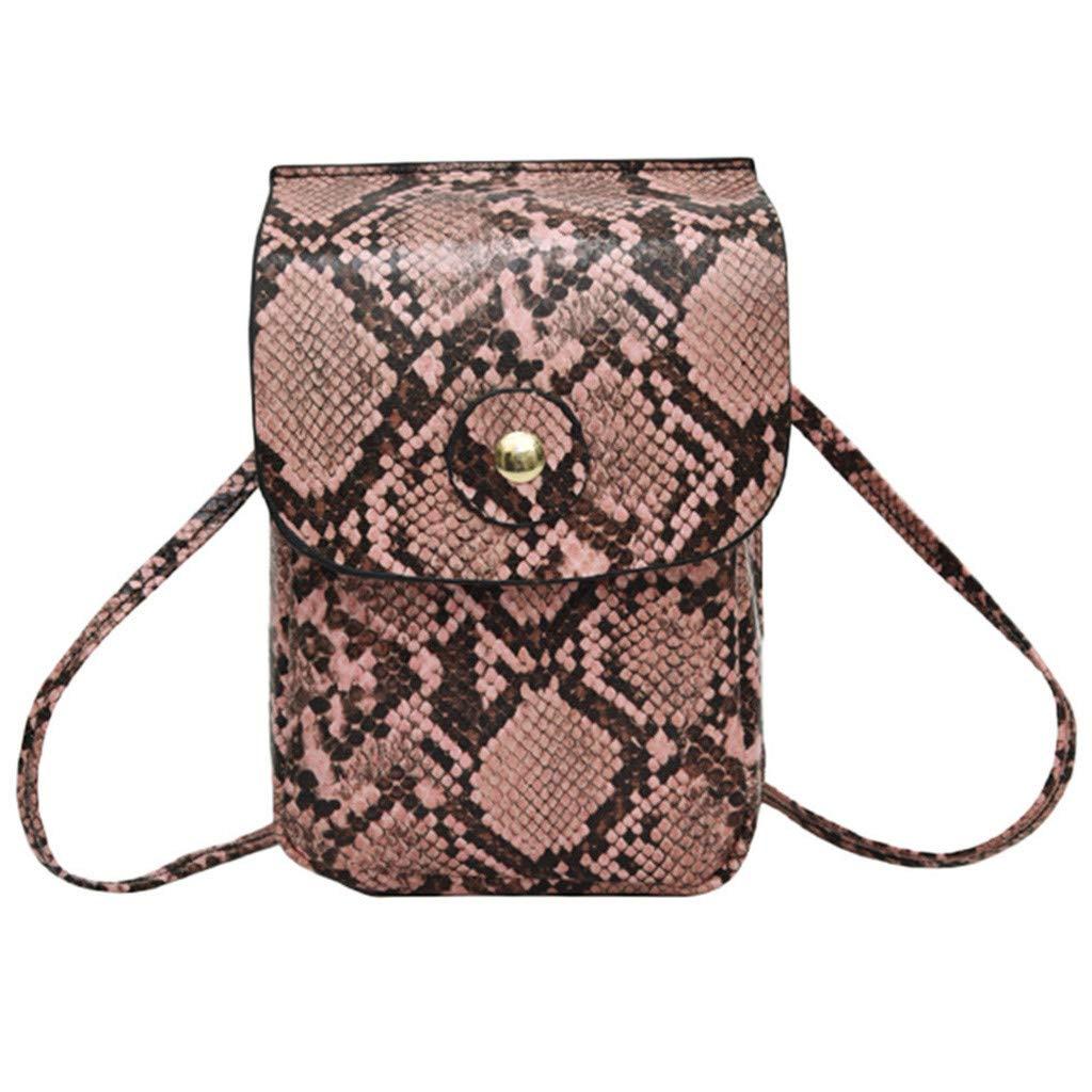 Women Outdoor Hasp Serpentine Messenger Bag Chest Bag Waist Bag Phone Bag