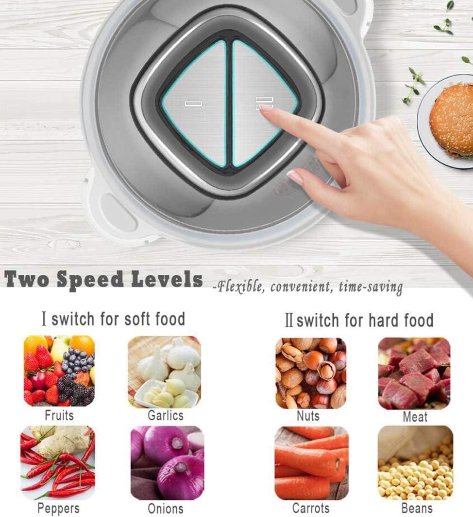 Verdura,Carne,Spezie 1.8L Ciotola in Acciaio Inox Amzchef Tritatutto elettrico per alimenti con motore robusto Tritatutto Cucina da 300 W per Frutta 2 livelli di velocit/à
