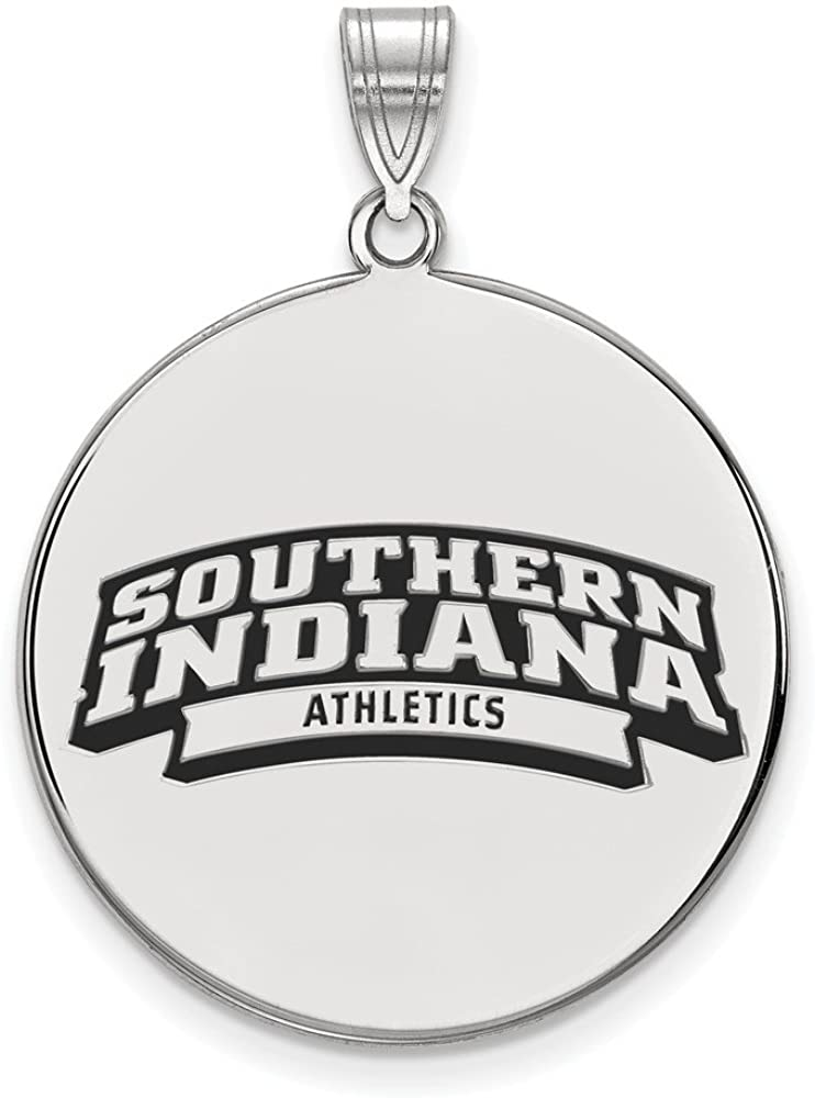 White Sterling Silver Charm Pendant Florida NCAA University Of South Indiana 32 mm 25
