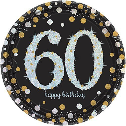 Sparkling Celebration 60 Paper Dessert Plates 8 (60th Birthday Paper Plates)