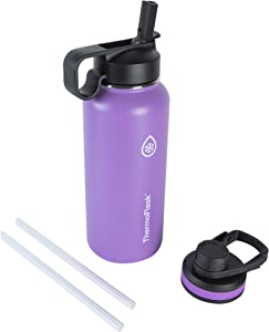 Thermoflask Double Stainless Steel Insulated Water Bottle, 32 oz, Plum