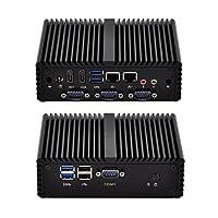 4 Serial Ports Mini Pc Mi3215C4 Intel Celeron 3215U 1.7Ghz 15W Fanless Aluminium Alloy,Dc 12V,X86 Windows Os Linux (4G ram,128G SSD,WIFI)