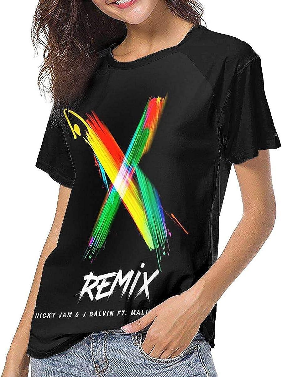 Nicky Jam Athletic Woman tee Unisex Funny Short Sleeve Shirt ...