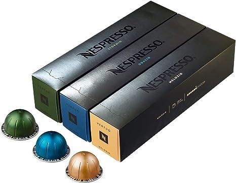 Nespresso - Surtido de cápsulas de café para máquina Vertuoline - Los más vendidos: 1 caja de Stormio, 1 caja de Odacio y 1 caja de Melozio que suman ...