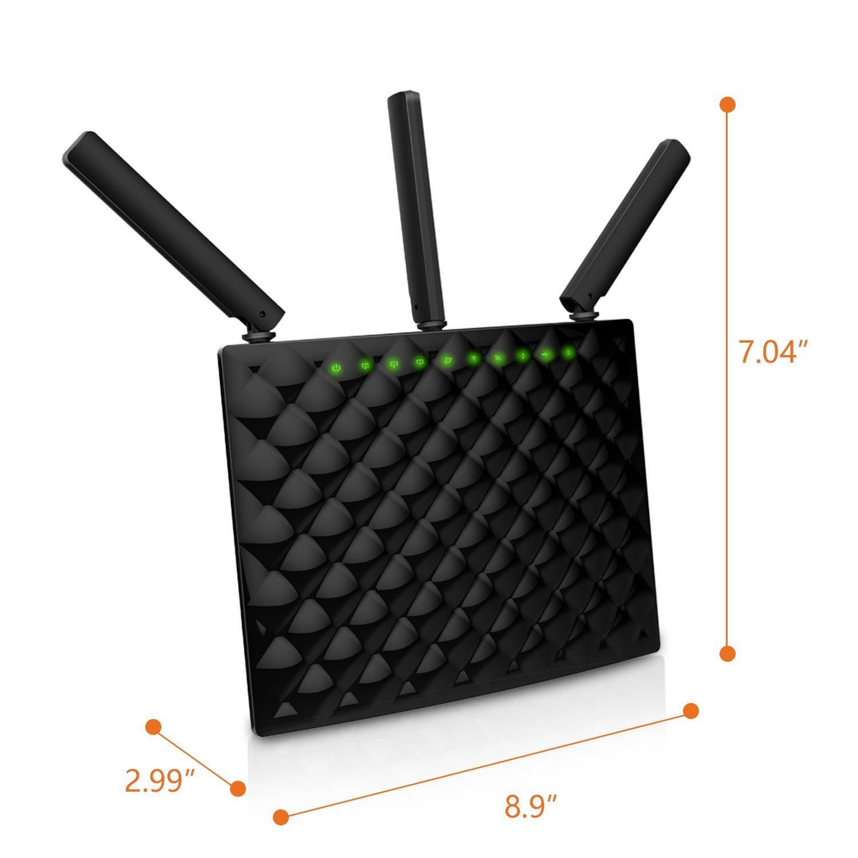 Amazon.com: Tenda AC15 AC1900 Wireless Wi-Fi Gigabit Smart Router, Black:  Computers & Accessories