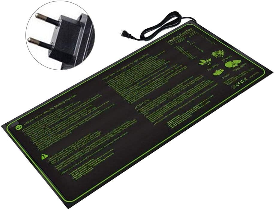 Sliveal Seedling Plant Mat Seedling Heat Mat Heated Propagator Durable Waterproof Seedling Heating Pad For Winter Hydroponic Indoor Seedling Germination 30x10in graceful well-liked