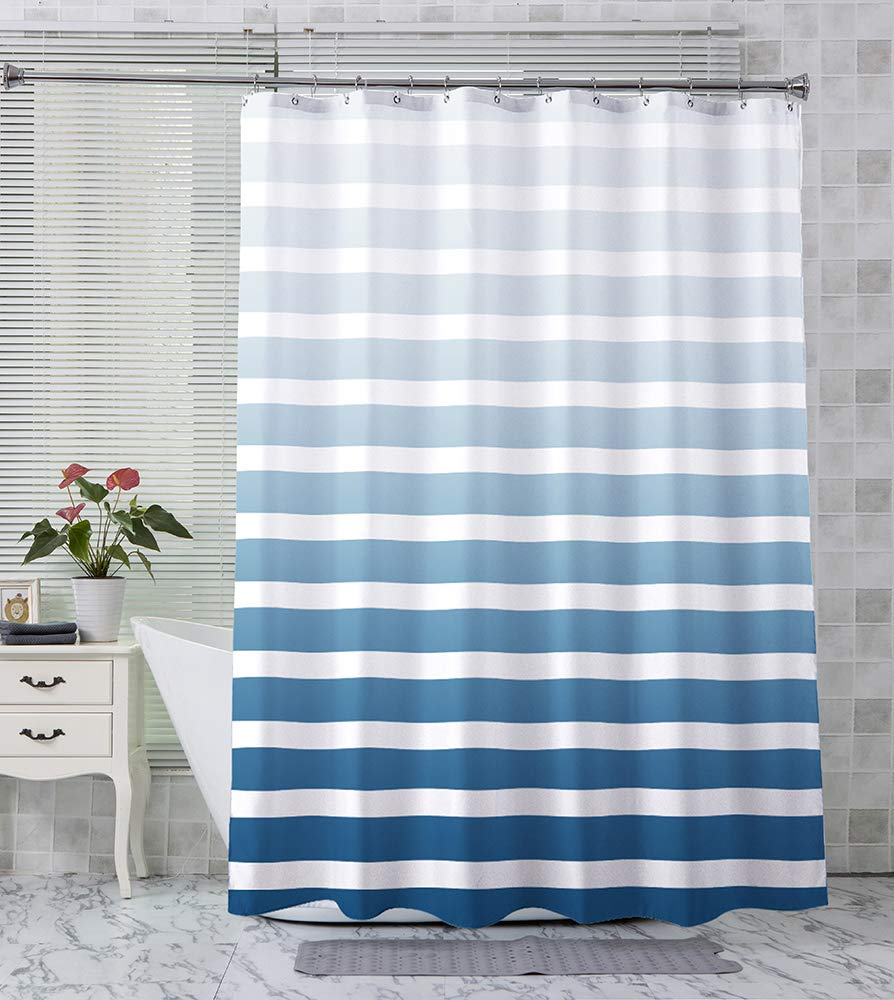 Blue Cubes Fabric Shower Curtain SKL Home by Saturday Knight Ltd