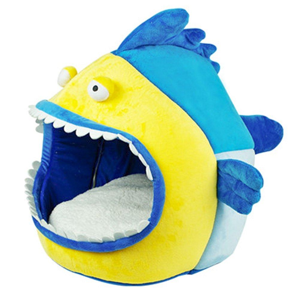 cayjpet cw075 lavable tiburón azul Aserrín para gatos Pet Caseta/Tienda de campaña azul 17.71