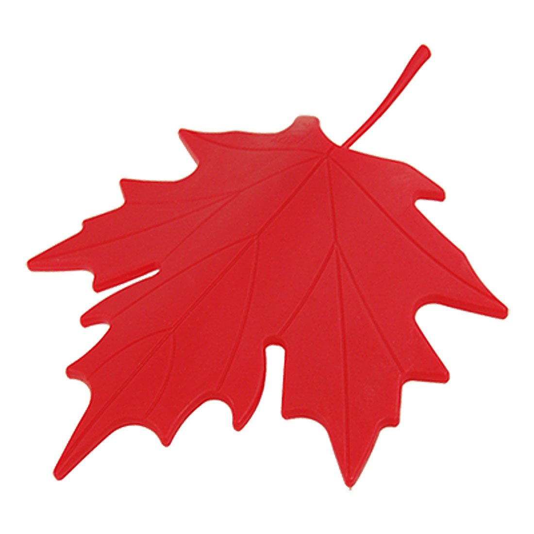uxcell Red Plastic Maple Leaf Style Home Decorative Door Stopper Doorstop