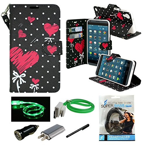 HTC Desire 530, HTC Desire 630 Case, Mstechcorp Wallet Case ID Credit Card Cash Slots Premium PU Leather Case with Stand Flip Cover Protector For Desire 630 - With Accessories - Wallet Htc Desire Phone