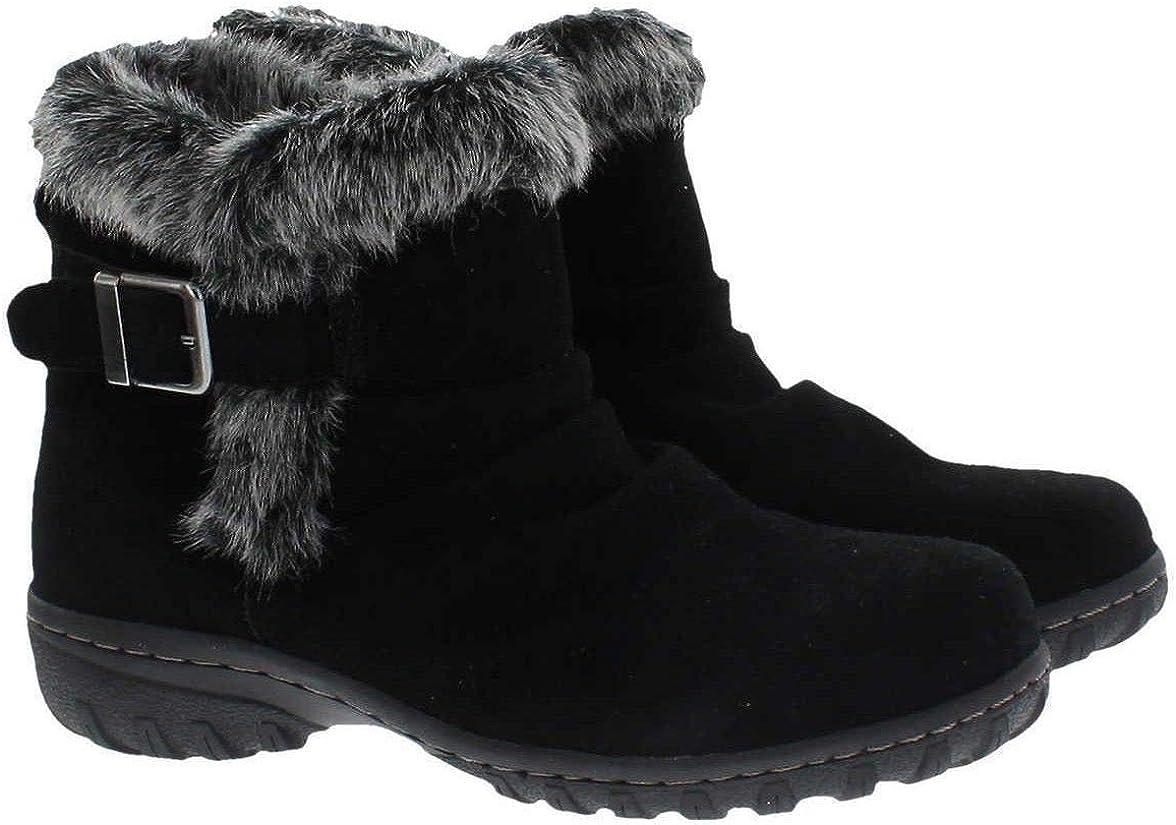 Khombu Women/'s Lindsey Memory Foam Boots Black Size 10